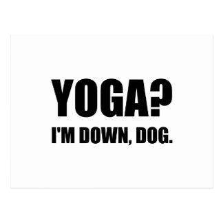 Yoga Down Dog Postcard