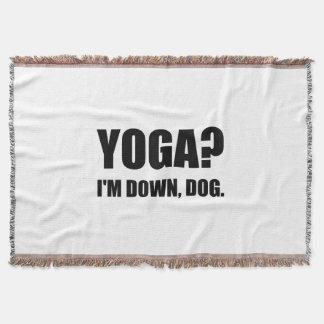 Yoga Down Dog Throw Blanket