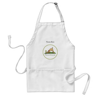 Yoga - Downward Facing Dog Adult Apron