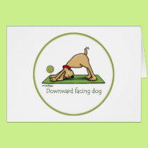 Yoga - Downward Facing Dog Card