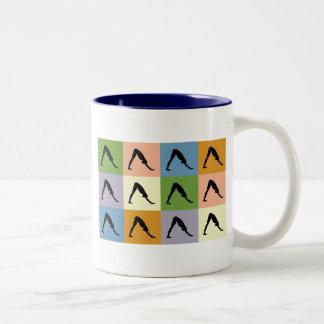 Yoga Downward Facing Dog Two-Tone Coffee Mug