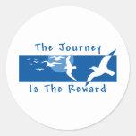 Yoga - el viaje es la recompensa pegatinas redondas