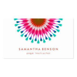 Yoga elegante del logotipo de la flor de Lotus Tarjetas De Visita