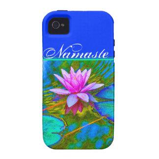 Yoga elegante Lotus de Namaste de las reflexiones Vibe iPhone 4 Fundas