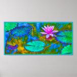 Yoga elegante Lotus de Namaste de las reflexiones Poster