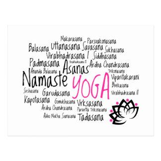 Yoga elegante tarjeta postal