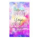 Yoga en colores pastel brillante moderna de la tarjetas de visita