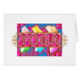 YOGA Enchanting Energy Print Greeting Card
