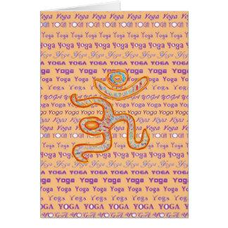YOGA - escritura por todo diversas fuentes Tarjeta De Felicitación