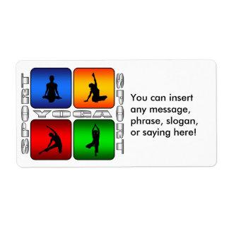Yoga espectacular etiqueta de envío