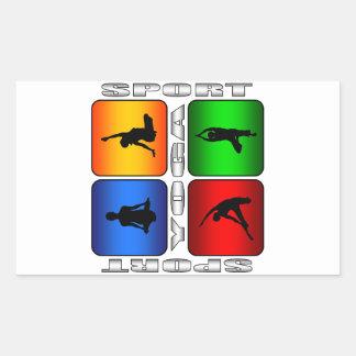 Yoga espectacular pegatina rectangular