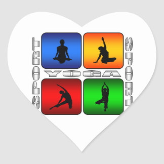 Yoga espectacular pegatina en forma de corazón
