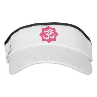 Yoga espiritual de la flor de OM Namaste Lotus Visera
