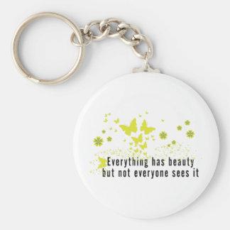 Yoga Everything has beauty... Basic Round Button Keychain