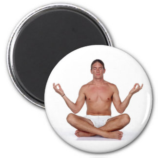 Yoga Exercise 2 Inch Round Magnet