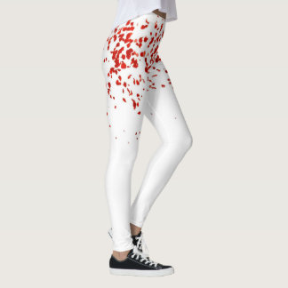 Yoga Falling Red Rose Pedals Leggings