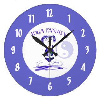 Yoga Fanatic-Yoga Girl with Yin-Yang Symbol Wall Clock