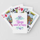 Yoga feliz baraja cartas de poker