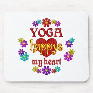 Yoga feliz alfombrilla de ratón