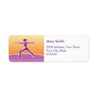 Yoga Fitness Instructor Return Labels Custom