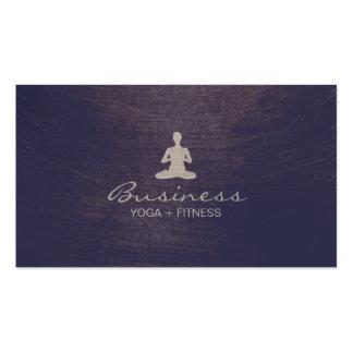 Yoga & Fitness Vintage Purple Elegant Business Card