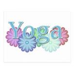 Yoga floral postales