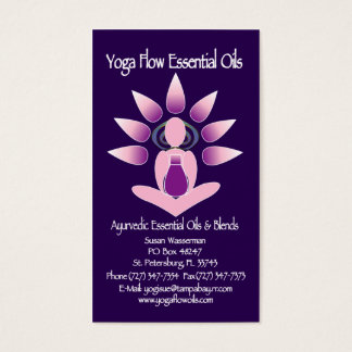 Yoga Flow Essential Oils Business Card
