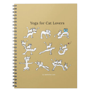 Yoga for cat lovers notebook