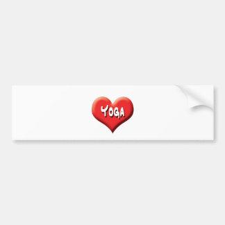 Yoga for Everyone - Red Hearts Car Bumper Sticker
