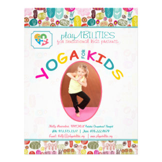 Yoga For Kinds Colorful Floral Personalized Flyer