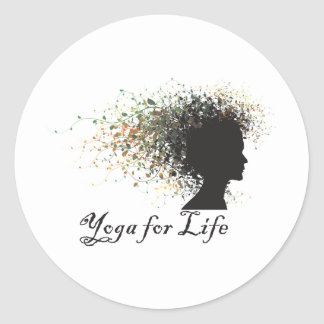 Yoga For Life Classic Round Sticker