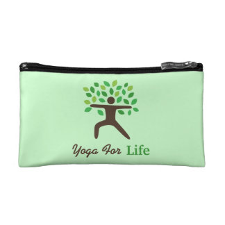 Yoga For Life, Warrior Pose, Tree Cosmetic Bag