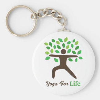 Yoga For Life, Warrior Pose, Tree Keychain