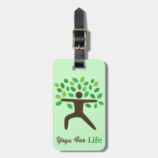 Yoga For Life, Warrior Pose, Tree Tags For Luggage