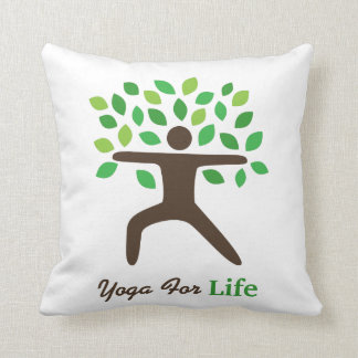 Yoga For Life, Warrior Pose, Tree Pillows