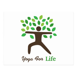 Yoga For Life, Warrior Pose, Tree Post Card