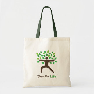 Yoga For Life, Warrior Pose, Tree Tote Bag