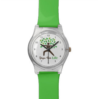 Yoga For Life, Warrior Pose, Tree Wrist Watches