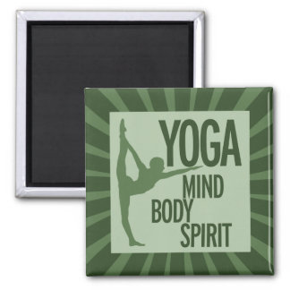 YOGA for mind body and spirit 2 Inch Square Magnet