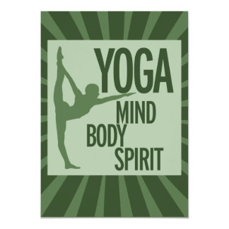 YOGA for mind body and spirit Card