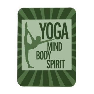 YOGA for mind body and spirit Rectangular Magnets