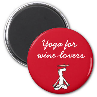 Yoga for Winelovers Red Magnet