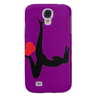 Yoga Forearm Stand - Purple iPhone Case Galaxy S4 Covers