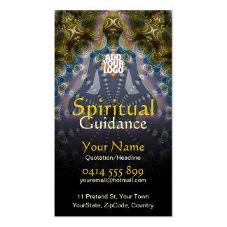 Yoga Fractal Spiritual Guidance Holistic Business Card