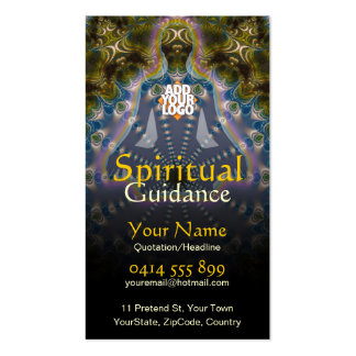 Yoga Fractal Spiritual Guidance Holistic Double-Sided Standard Business Cards (Pack Of 100)