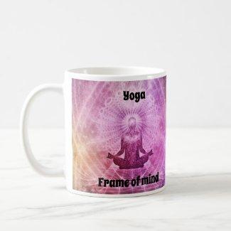 Yoga frame of mind coffee mug