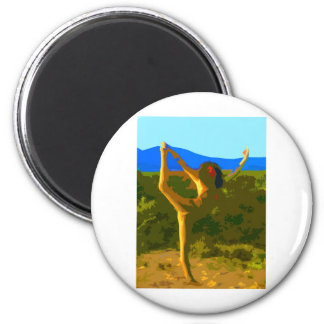 Yoga Freedom 2 Inch Round Magnet