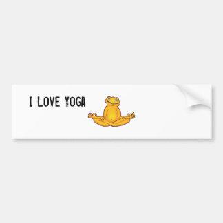 Yoga Frog - I Love Yoga,Moments of Zen Bumper Sticker