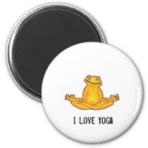 Yoga Frog - I Love Yoga,Moments of Zen Magnet