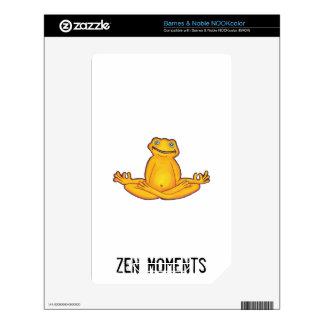 Yoga Frog - I Love Yoga,Moments of Zen Skin For NOOK Color
